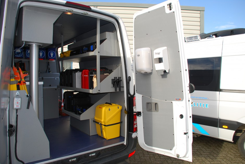 Bedrijfswageninrichting bestelwagen
