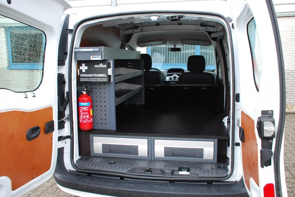 Bedrijfwageninrichting op maat gemaakt door Veth Automotive