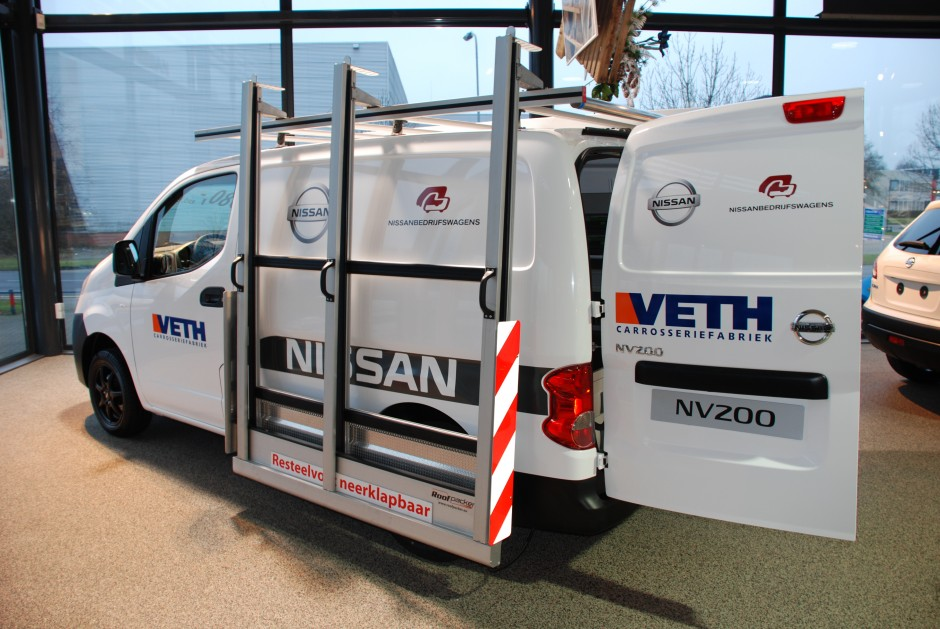 Nissan NV200 bestelwagen glasresteel