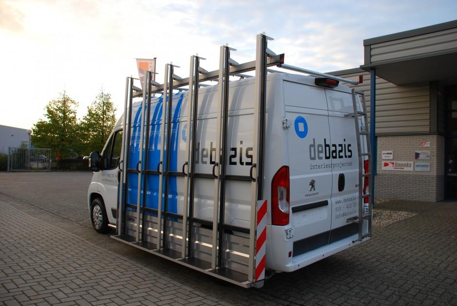 Bedrijfswagen glasresteel roofpacker