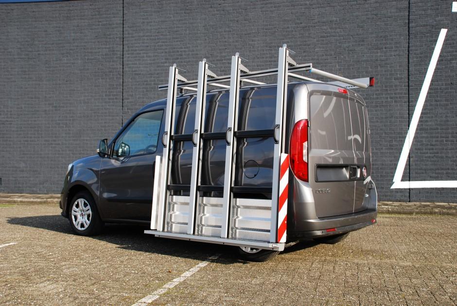 Bestelwagen glasresteel roofpacker