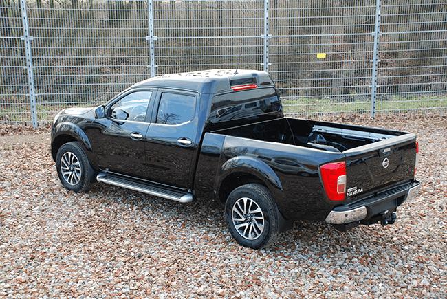 Pick-up verlenging Nissan NP300 Dubbel cabine XL achterzijde