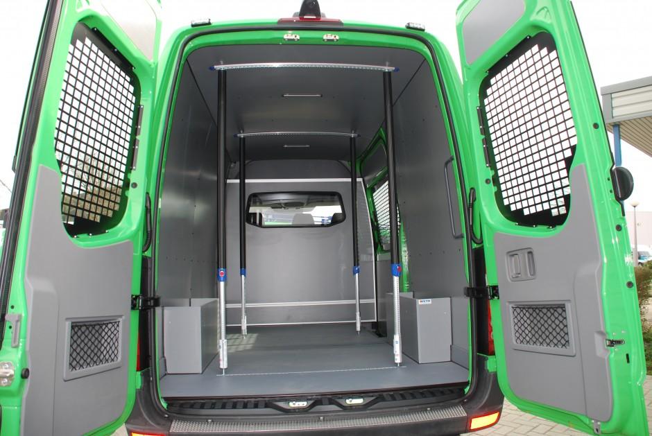 Bedrijfswageninrichting voor speciale bedrijfswagens