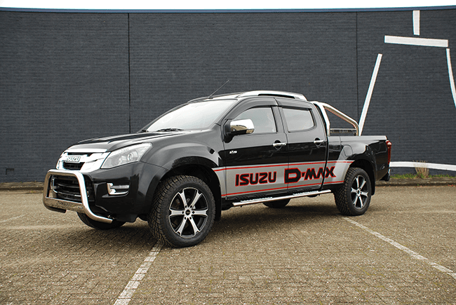 Pick-up verlenging Isuzu D-max DC XL voorzijde