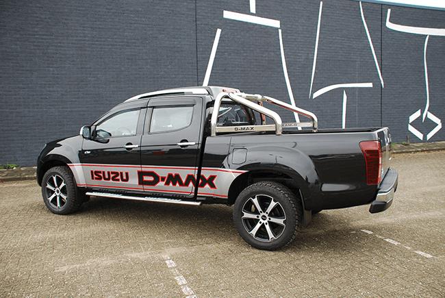 Pick-up verlenging Isuzu D-max dubbel cabine XL achterzijde