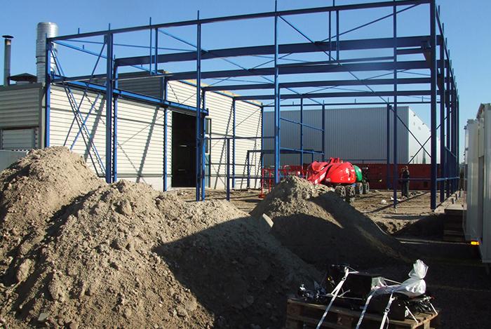 2008 Eerste productiehal wordt uitgebouwd